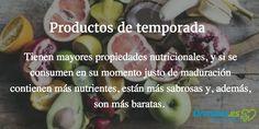 ¿Sabes cuáles son las #frutas y #verduras de temporada? Descubre nuestro calendario de temporada de frutas y verduras. #dieta #salud #alimentación