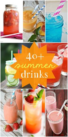 A roundup of 40+ drink recipes that will keep you refreshed in the summer heat! They all look sooo delicious - must see! { lilluna.com }