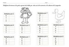 Ficha tabla multiplicar 1