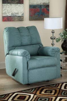 Darcy Sky Rocker Recliner – Outfit My Home