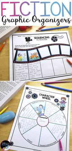 TONS of fiction graphic organizers! Perfect for guided reading groups, fiction reading comprehension, teaching character traits, teaching story elements and more! From Raise the Bar Reading Reading Centers, Reading Activities, Teaching Reading, Reading Groups, Guided Reading, Sensory Activities, Math Centers, Learning, 6th Grade Ela