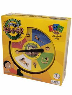 Yoga Spinner   This Yoga Spinner: A Game of Strengthening the Body and Stimulating the Mind from Upside Down Games is a fabulously fun way to increase your strength and flexibility. Spin the spinner and attempt the pose it lands on - if you can hold it for 10 seconds you get a pose card. The object is to be the first to collect a card in each color but, whether you play it with a partner or challenge yourself, no matter the outcome - you win! Ages 6 up.