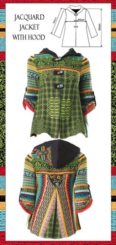 love the jacquard and colours...I can see this in knit but also in crochet
