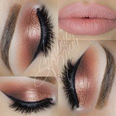 Something Peachy ✨All @makeupgeekcosmetics ✨ -Crease: Peach Smoothie, Chickadee…