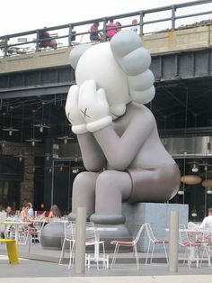 Kaws Sculpture  Outside the Standard Hotel in the  Meat Packing District, NYC