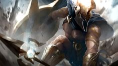 One of League Of Legends oldest champion, Patheon has been reborn. Featuring newly updated skills, visuals, animations and more. Lol League Of Legends, Pantheon League Of Legends, League Of Legends Characters, Pantheon Lol, Game Character, Character Design, Character Ideas, Greek Soldier, Roman Characters