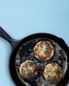 // Mashed Potato and Kale Cakes