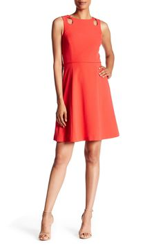 Crepe A-Line Cutout Dress by Tahari on @nordstrom_rack
