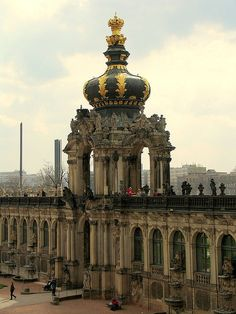 One of my favourite places. Crown Gate at Zwinger - Dresden, Saxony, Germany Places To Travel, Places To See, Places Around The World, Around The Worlds, Beautiful World, Beautiful Places, Europe Centrale, Dresden Germany, Central Europe
