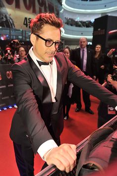 "Robert Downey Jr. at the ""Iron Man 3"" premiere in Seoul, South Korea"