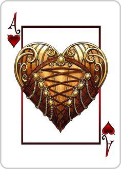 #Steampunk Ace of Hearts - Bicycle Playing Cards Deck http://www.steampunkgoggles.com/product-category/goggle-style/playing-cards/