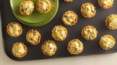 Appetizers with fabulous flair! Crunchy fillo shells complement a crabmeat-artichoke filling.