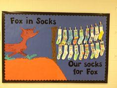 Dr. Seuss bulletin board/Fox in Socks