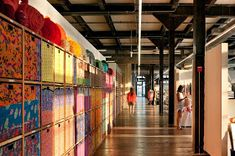 Urban Outfitters Corporate Campus, designed by Meyer Scherer & Rockcastle transformed four dilapidated historic buildings in Philadelphia's Navy Yard, into an award winning adaptive reuse headquarters. Urban Outfitters, Creative Studio, Creative Home, Creative Storage, Cool Office Space, Office Fun, Office Ideas, Turbulence Deco, Adaptive Reuse