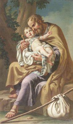 Vincenzo Angelo Orelli, San Giuseppe e Gesù Bambino, 1800, Chiesa di San Rocco in Broseta, Bergamo