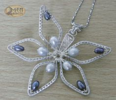Flower pendant - these could make cool ornaments!