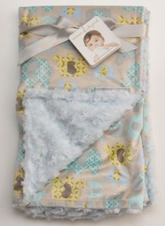 Blankets & Beyond Super Soft Plush Baby Blanket ~ Elephant Print~  Boy or Girl ~ #BlanketsBeyond