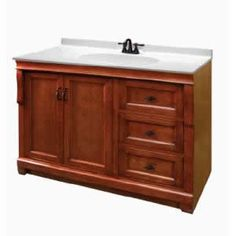 Simplistic but wonderful. A great vanity design. #brown #vanity #bathroom #sink #drawers #traditional