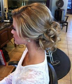 Cute Prom Updo Hairstyles 2015 Ideas: Sweet prom updo hairstyle with curls 2015 and loose pieces around the face