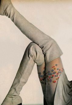 Mod wool boots and Peter Max tights!