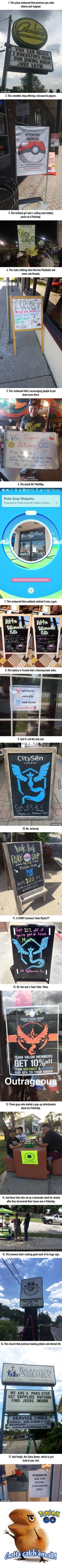 17 Small Businesses That Are Totally Cashing In On Pokémon Go - 9GAG