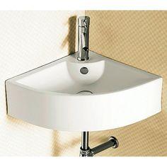 Nameeks Ceramica White Ceramic Wall-Mount Semi-Circle Bathroom Sink With Overflow Caracalla Ca4053-1