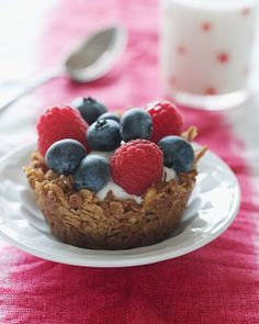 Sweet Paul's Granola Cups with Fruit & Yogurt - perfect for holiday brunch!