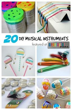 36 Trendy Music Crafts For Kids Homemade Instruments Kids Crafts, Arts And Crafts, Summer Crafts, At Home Crafts For Kids, Easy Crafts, Summer Diy, Toddler Crafts, Craft Projects, Music For Kids
