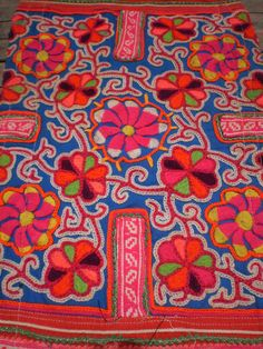 Embroided Vintage Textile Tribal Panel