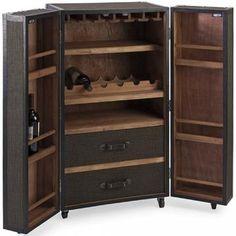 Schultz Rolling Bar Cabinet @HomeDecorators.com #DiningRoom
