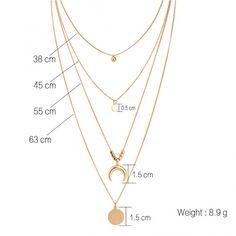 Ivona Multi-layered Necklace - new season bijouterie Cute Jewelry, Body Jewelry, Jewelry Accessories, Jewelry Design, Women Jewelry, Fashion Jewelry, Gypsy Jewelry, Gothic Jewelry, Coin Pendant Necklace