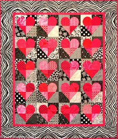 """""""Simply Hearts"""" quilt kit at Snappy Quilts.  The pattern is in 'Hearts Aplenty' by Lynda Milligan and Nancy Smith of the Great American Quilt Factory and Possibilities."""