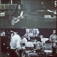 """""""CLEARLY VAN HALEN HAD A KEYBOARDIST WHILE WITH FIRST BASSIST MARK STONE AS SEEN WITH EDDIE (TOP RIGHT) AND BELOW PERFORMING WITH VAN HALEN AT A LOCAL CALIFORNIA HIGH SCHOOL IN 1973!"""" #evh #eddievanhalen #alexvanhalen #diamonddave #davidleeroth #michaelanthony #Vintage #Klassik #Classic #Rock #Music #History #1970s 1973 #mystery #keyboards #markstone #vantastikhistory #Vantastik #VanHalen #vanhalenhistory"""