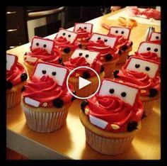 Ideas cars de disney cupcakes for 2019 Disney Cars Party, Disney Cars Birthday, Cars Birthday Parties, Boy Birthday, Car Party, Disney Cars Cake, Cake Birthday, Birthday Ideas, Disney Cupcakes