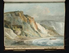 Joseph Mallord William Turner 'Alum Bay, Isle of Wight', 1795  http://paintwatercolorcreate.blogspot.com/2015/01/mr-turner-his-sketchbooks.html