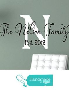 Family Wall Decals - Personalized Name Wall Decal - Monogram Vinyl Wall Decalu2026  sc 1 st  Pinterest & Family Wall Decal Set | Pinterest | Monogram wall decals Monogram ...