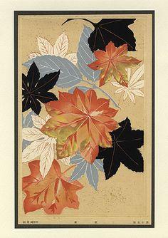 Мэйдзи ботанических гравюр c1900