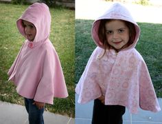 reversible cape in baby pink and pink doily  available in size 1-8