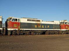 (E60C).   Black Mesa & Lake Powell R.R..   G.E. E60C (AAR) C-C, 6000 H.P., 6 built 1972-76.