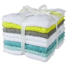 Room Essentials 8 Pack Washcloth *** I cannot believe how this matches all your colors.  **BUT I highly recommend all white towels and washclothes. They all go in one load with a little bleach. No separating...just me.