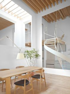 white box : architecture : Asahikawa Residence by Jun Igarashi Architects : japan Minimalist Architecture, Space Architecture, Great Buildings And Structures, Modern Buildings, Japanese Interior, Contemporary Interior, Minimalist Home, Interior Inspiration, Interior And Exterior