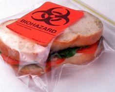Biohazard Sandwich Bag http://www.howdidilivewithoutthis.com/biohazard-sandwich-bags/ #howdidilivewithoutthis #biohazard #backtoschool #lunch #kitchen #sandwichbags #ziplock #cool #food