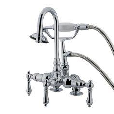 Elements of Design DT01 Vintage Clawfoot Tub and Shower Filler