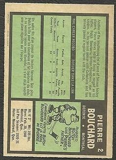 1971-72-OPC-O-PEE-CHEE-HOCKEY-2-PIERRE-BOUCHARD-ROOKIE-VG-EX-MONTREAL-CANADIENS