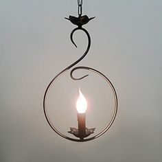 Artistic Pendant Light in Candle Bulb with 1 Light – LightSuperDeal.com