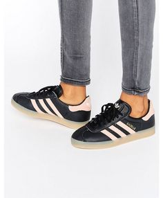 35ddc747e08 Adidas Gazelle Womens Shoes In Black Pink Adidas Originals Gazelle