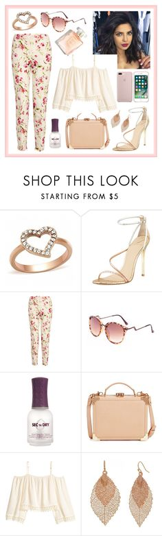 """oh, pink lady"" by marianasm ❤ liked on Polyvore featuring Fantasy Jewelry Box, B Brian Atwood, RED Valentino, Chicnova Fashion, ORLY, Aspinal of London, H&M and Bold Elements"
