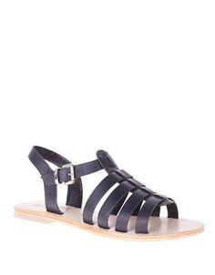 Sol Sana Sims Leather Sandals Women's Black 38