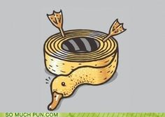 Check out the design Duck Tape by Jakub Gruber available on on Threadless Funny Photos, Funny Images, Punny Puns, Tastefully Offensive, Duct Tape Crafts, Disney Duck, Scrooge Mcduck, Duck Tape, Jokes Quotes