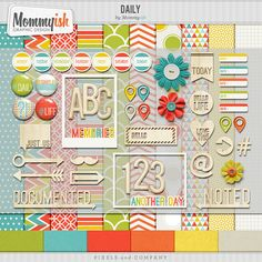 tons of adorable FREE scrapbook papers, elements, templates